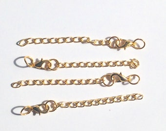 Golden 5cm with clasp extension chain.