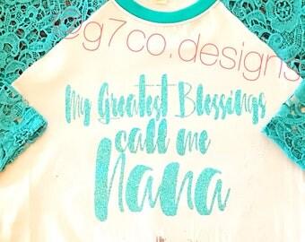 Blessed Nana Crochet Tunic - Personalized