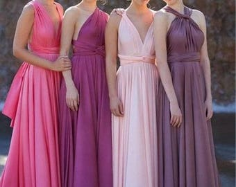Bridesmaid Infinity Dresses, Infinity Dress, Infinity Bridesmaid Dress, Prom Dress, Wrap Dress, Formal Dress, Floor Length, Long Dress