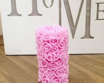 Small Rose Candle