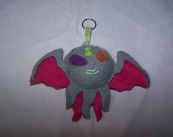 Door - key little monster: amulets made of felt, designer jewelery