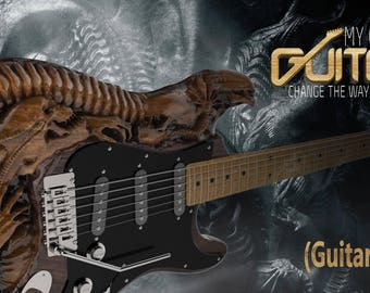 In mycarvedguitar we carve guitars and bass shows the world that you are different