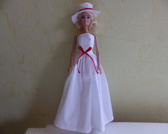 White ceremonial dress for doll