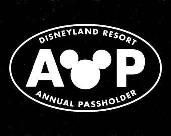 Disneyland Resort Replica AP Decal