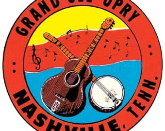 Vintage Style Grand Ole Opry Nashville Tennessee Travel Decal sticker