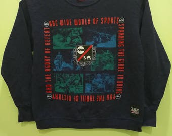 Rare Vintage Sweatshirt ABC Wide World Of Sport