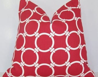 Red and white pattern Cushion cover sailors