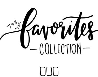 Makenna's favorites collection // (4) 4 x 6 postcard prints