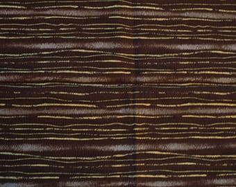 Patchwork fabric Fat Quarter cotton lines and Brown stripes, dots, gold