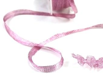 """Novelty 0.50 """"magical"""" Mesh Ribbon, pink, 6mm"""