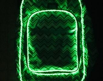 LED light up backpack