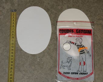 CLEARANCE lot 2 elbows/knees white imitation leather