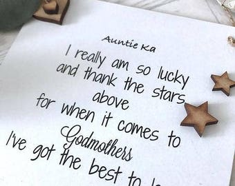 Personalised Godmother/Auntie Plaque/Sign Gift