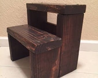 Kid or Adult Reclaimed Wooden Step Stool