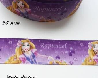 Princess Rapunzel 25 mm purple grosgrain Ribbon sold by 50 cm