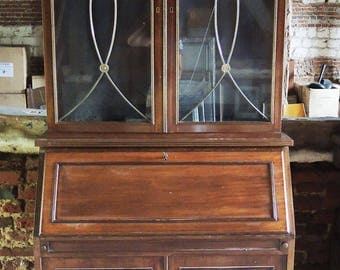 Old English Style wooden secretaire