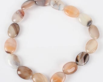 set of 10 beads oval Botswana agate stone - Pearl gemstone - agate stone oval beads gemstone
