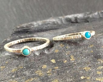 fine to wear on duo or trio turquoise ring