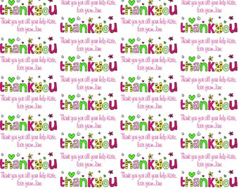 Personalised Wrapping Paper Thank You Gift Wrap