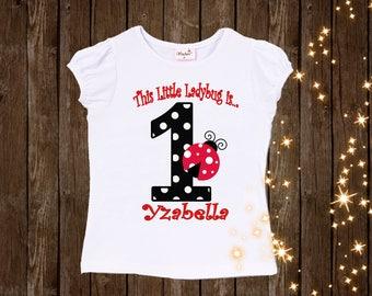 ladybug birthday shirt love bug birthday shirt custom shirt