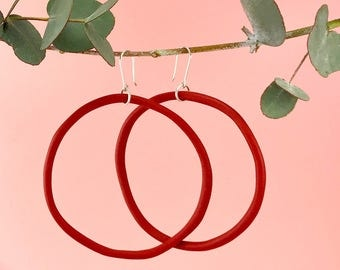 Cherry Red Hoop Earring | Big Mama