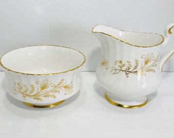 Paragon Lafayette Creamer and Sugar Bowl Set Bone China England