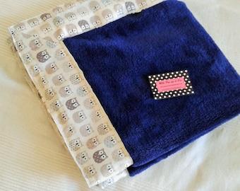 Blue baby blanket Navy soft