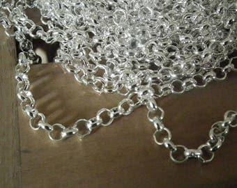 Chain has links ♥X3m round 2.5 mm argente♥