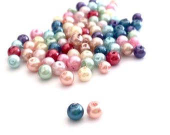 Assortment of 150 3mm polished glass beads