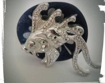 Fish ring Pearl unique reajustable