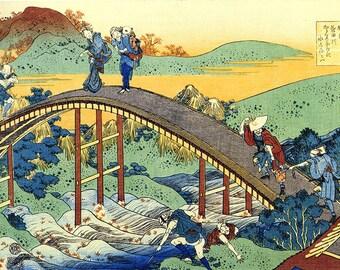 ORIGINAL SEMI RIGID PLACEMAT. Hokusai. Ariwara Narihira Ason No..