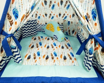 "Wonderful ""Feathers"" teepee FULL SET+ pillow ""car"""