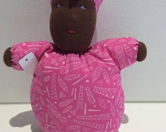 African doll pink round MAMA