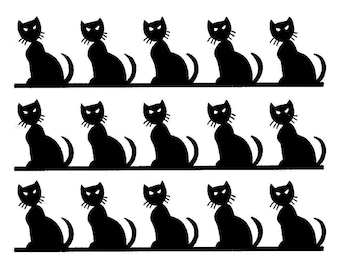 Black Cats Cake topper strips