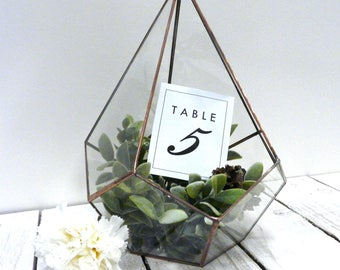 Glass Teardrop Copper Terrarium, Wedding Decoration, Indoor Succulent And Cacti Glass Planter, Modern Garden, Candle Holder Terrariums