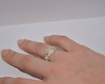 999/1000 silver wide ring