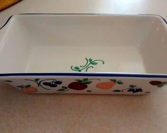 Princess House Orchard Medley Bread Pan/Baking Dish