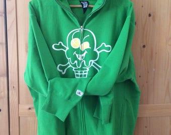 Icecream Cone & Bones Green Sweater