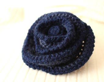 Shawl pin Knit brooch Wool brooch Woman fashion pin brooch Wool shawl brooch pin Blue marine accessories Winter blue brooch large #SvB