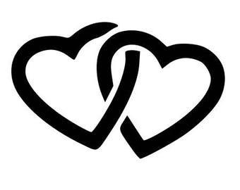 Fusible double heart motif