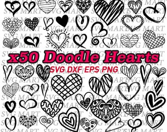 heart svg, heart shape, doodle heart, hand drawn heart, clipart, decal, vinyl, stencil, cut files, silhouette, line art, love, valentine