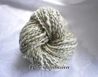 Artyarn hand spun, effect yarn 152 g, spiral yarn, wool, hand-spun wool, Knitting yarn