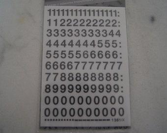 rub on transfer black numbers