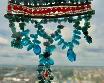 Turquoise and Flame Necklace