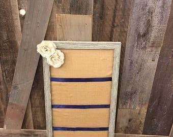 Burlap style board