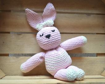 """Pink Bunny """"Alice"""" amigurumi"""