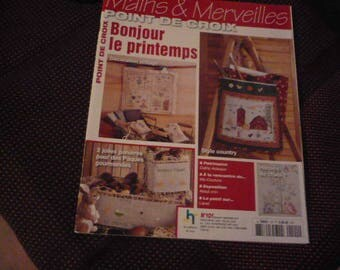 magazine 'hands and wonders' number 101bonjour cross stitch spring
