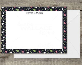 Floral Print Personal Stationery