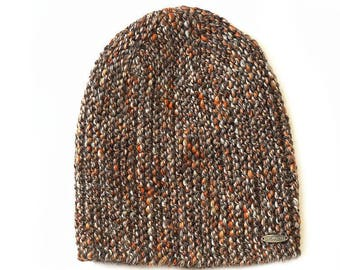 Melange beanie - brown