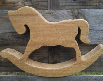 rocking horse wood oak